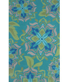 RugStudio presents The Rug Market America Resort Andalucia Green Green/Beige/Blue Hand-Hooked Area Rug